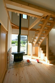 階段ホールの施工例2